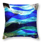 Whale Family At Home Throw Pillow
