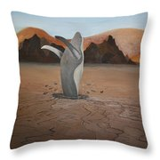 Whale In Desert Throw Pillow
