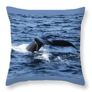 Whale  Throw Pillow by Lorena Mahoney