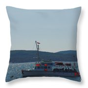 Whale Watching At Bar Harbor Throw Pillow