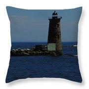 Whaleback Light Throw Pillow