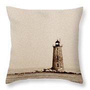 Whaleback Lighthouse Throw Pillow
