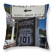 Whaley House Us Hwy 101 Historic Route Throw Pillow