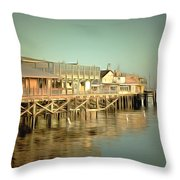 Fishermans Wharf Monterey California Throw Pillow