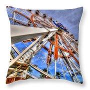 Wharf Wheel Throw Pillow