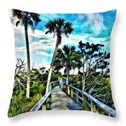 What A Beautiful Boardwalk Throw Pillow