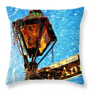 What A Party Painted Throw Pillow