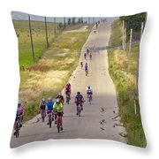 What Comes Down Must Go Up Throw Pillow
