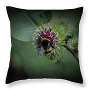 What Do You Do On My Flower Throw Pillow