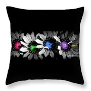 Colored Blind Throw Pillow