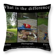 What Is The Difference Throw Pillow