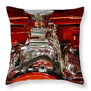 What Is Under The Hood-red Customized Retro Pontiac Throw Pillow
