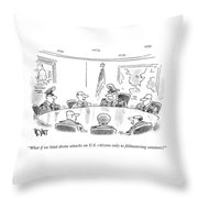 What Is We Limit Drone Attacks Throw Pillow