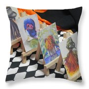 What Lies Ahead Series... The Domeno Effect  Throw Pillow by Chrisann Ellis