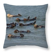 What Otters Do Best Throw Pillow
