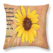 What Sunflowers Do Throw Pillow