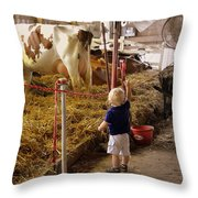 Hi Cows Or What The County Fair Is All About Throw Pillow