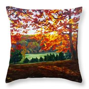 What The Cow Saw Throw Pillow