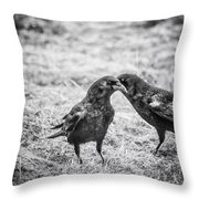 What The Raven Said Throw Pillow by Susan Capuano