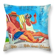What Who  Who Needs Obama Care Throw Pillow