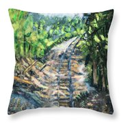 What's Around The Bend? Throw Pillow