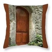 What's Behind The Red Door Throw Pillow