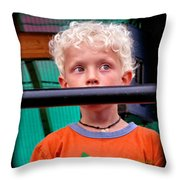 What's Going On Over There? Throw Pillow
