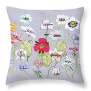 What's In A Flower Throw Pillow