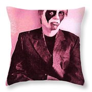 Whats The Point In Miming In Burgundy Throw Pillow