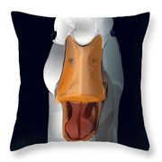 Whats Up Duck Throw Pillow