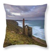 Wheal Coates Tin Mine Throw Pillow