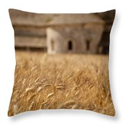 Wheat At The Abbaye Throw Pillow