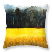 Wheat Field 1 Throw Pillow