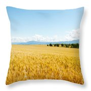 Wheat Field Near D8, Brunet, Plateau De Throw Pillow