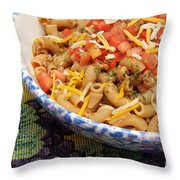 Wheat Pasta Goulash Throw Pillow by Andee Design