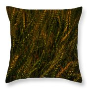 Wheat Waving In The Wind Throw Pillow
