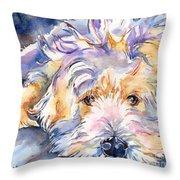 Wheaten Terrier Painting Throw Pillow