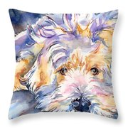 Wheaten Terrier Painting Throw Pillow