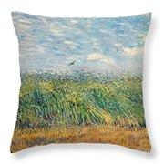 Wheatfield With Lark Throw Pillow