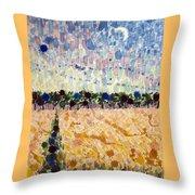 Wheatfields At Dusk Throw Pillow