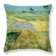 Wheatfields Near Auvers-sur-oise Throw Pillow