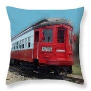 Wheaton Express Throw Pillow