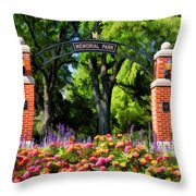 Wheaton Memorial Park Throw Pillow