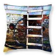 Wheel And Ladder Throw Pillow