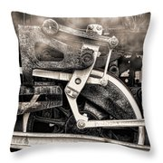 Wheel And Steam Throw Pillow