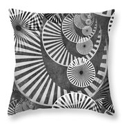Wheel In The Sky Bw Throw Pillow by Angelina Vick