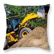 Wheel Loader Construction Site Throw Pillow