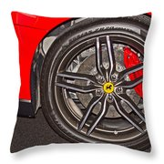 Wheel Of A Ferrari Throw Pillow