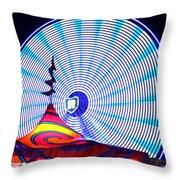 Wheel Of Light Work B Throw Pillow