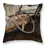 Wheel Of Misfortune Throw Pillow